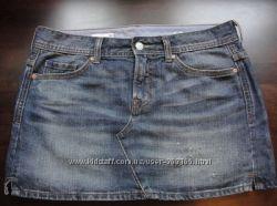 Джинсовая юбка GAP шикарная варка