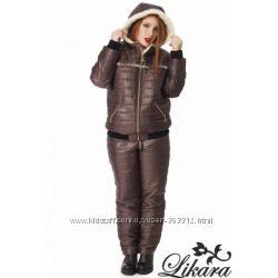 Женские зимние тёплые костюмы на синтепоне 200 в ассортменте батал