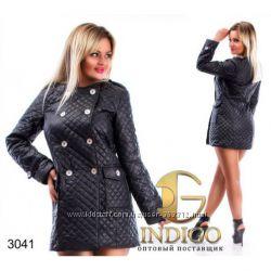 Стёганая удлинённая курточка норма батал