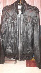 Продам фирменную кожаную куртку Tom tailor оригинал по смешной цене