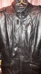 Фирменная кожаная куртка GARRY