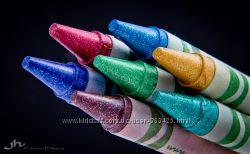 Мелки-карандаши с блестками CRAYOLA Оригинал США