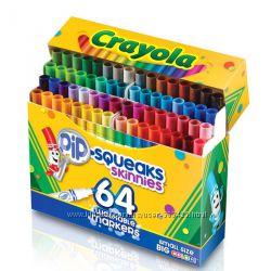 Маркеры, фломастеры смываемые CRAYOLA  8, 12, 64 цвета Оригинал США и др.