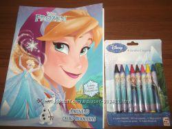 Отличный набор Раскраска Disney плюс толстые, тонкие восковые карандаши