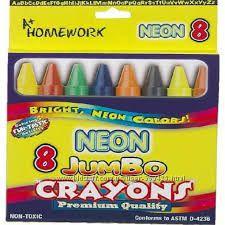 МегаТолстые восковые карандаши. Ароматизиров 3 вида Блестки. Неон. Металлик