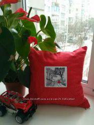 Декоративна подушка вишивка ручної роботи