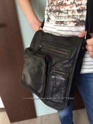 Брендовая кожаная сумка кросс-боди унисекс модель