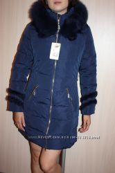 Куртка с натуральным мехом лиса