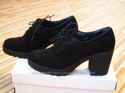 Туфли оксфорды замшевые