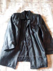 Новая кожаная демисезонная куртка - полу пальто 54, 56