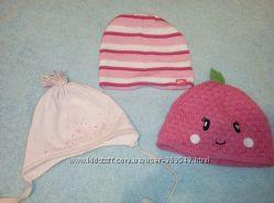 Фирменные демисезонные шапки для девочки 40-42-44 см.