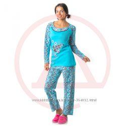 Новые пижамы, байка, до 2XL, ночная рубашка, Турция