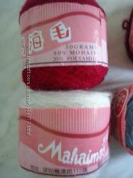 Мохер привезен из Китая пряжа новая разные цвета