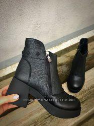 ботинки Dizzl зима кожа , замш