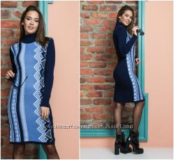 Весеннее вязаное платье до 52 р - цвета