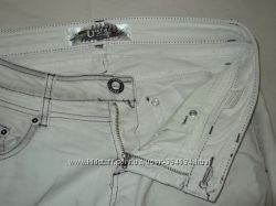 Белые летние джинсы с градиентом,  28р.