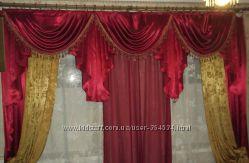 Семь ламбрекенов со шторами