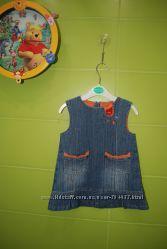 Джинсовое платье сарафан  Esprit на девочку 1 года