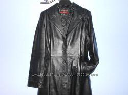 Шикарный кожаный плащ р-р 48