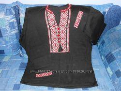 Трикотажная мужская вышиванка 56-58 размера