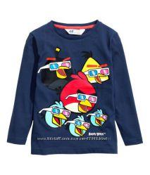 Реглан на мальчика до 2 лет Angry Birds H&M. Скидка