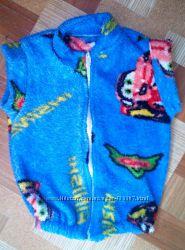 Махровая тёплая жилетка на 3 года