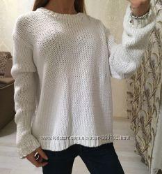 Хлопковый свитер оверсайз Zara Knit