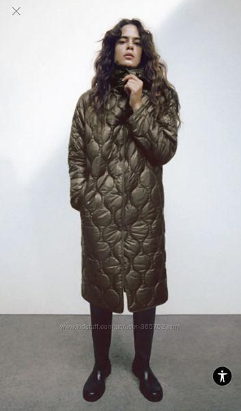 Стеганое демисезонное пальто Zara