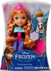 Кукла Disney Princess Frozen Анна 15 см и Олаф. Оригинал.    Курс 22