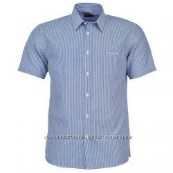 Мужская рубашка  легкая глажка  L, XL Качество - бомба   Pierre Cardin
