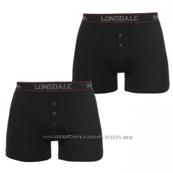 Неубиваемые трусы боксеры Lonsdale Англия упаковка 2 шт. размеры М L ХL