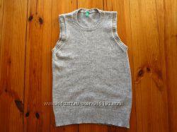 Теплые шерстяные жилетки для школы для мальчика и девочки.