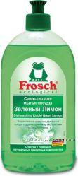 FROSCH  для мытья посуды Зеленый лимон 0, 5л , 1 л