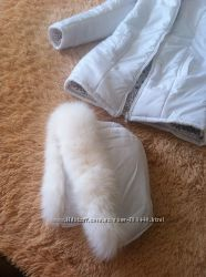 Куртка-парка с песцовым мехом