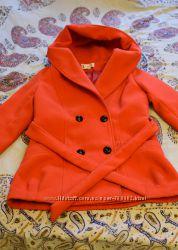 Пальто короткое красное