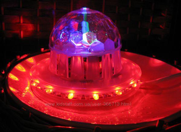 Светодиодная полноцветная вращающаяся лампа
