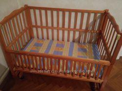 Кроватка GEOBY DINO натуральное дерево