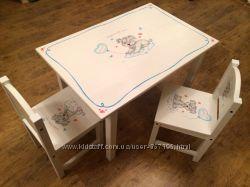 Стулья и столики IKEA детские с ручной художественной росписью