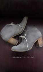 Ботильоны кожаные Румыния 39р 25, 5стелька