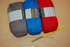 Набор нитки  крючок , нитки для шапки Crelando
