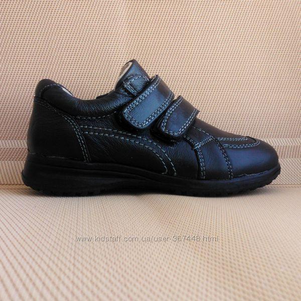 Туфли - кроссовки кожаные для мальчика р. 26-37