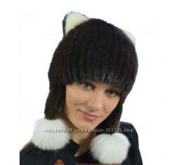 Красивая шапка натуральный мех норка