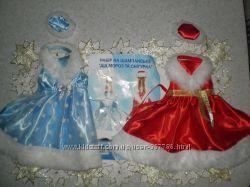 Комплект на шампанское Дед мороз и Снегурочка