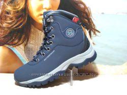 Зимние ботинки  - BaaS -Waterproof 038--синие 37р-41р