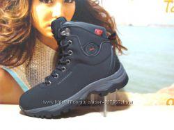 Зимние ботинки - BaaS -Waterproof 038--черные   37р-41р