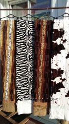 Плед покрывало на кровать   меховые двухсторонние коровка, леопард, зебра с