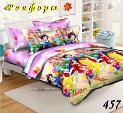Комплет постельного белья детский полуторный феи тачки принцессы  в наличии