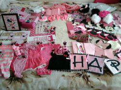 Набор для оформления 1 годика Минни Маус в розовом