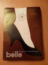 Белые колготки в сеточку, новые bella для невесты, танцев, для образа