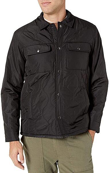 Мужская демисезонная стёгаая куртка-рубашка Essentials by Amazon. Оригинал